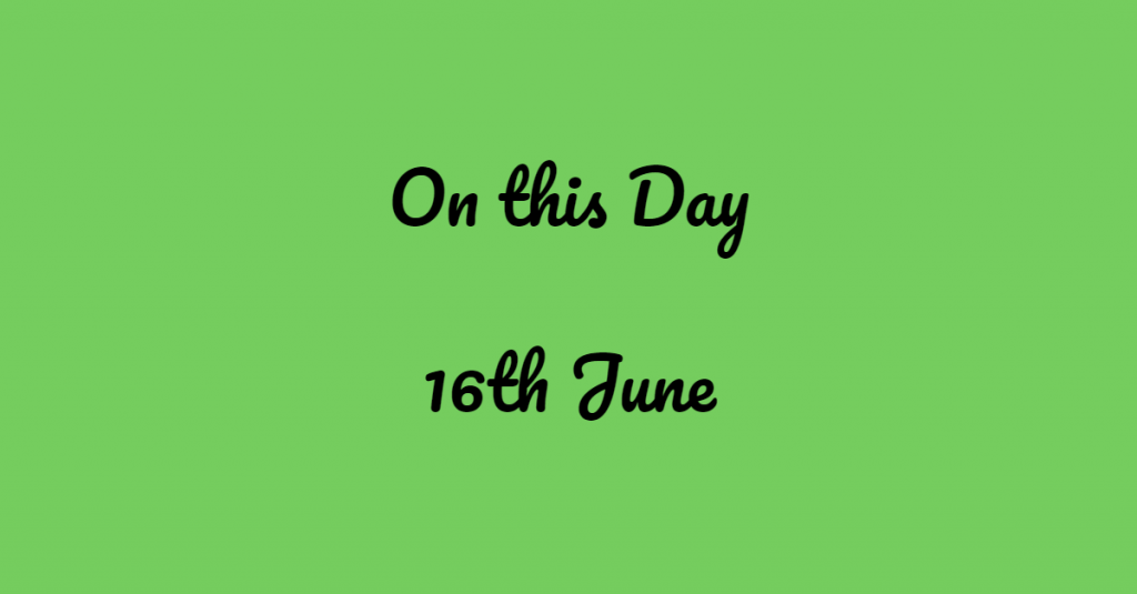 16th June