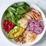 Healthy Chicken Hummus Bowl