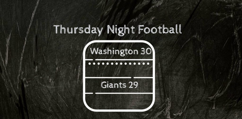 NFL 2021 Week Two Washington FT Snatch The Thursday Night Game